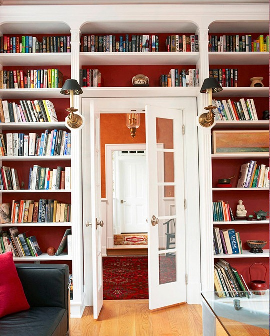 My Centsational Style Via Better Homes And Gardens Wallpaper Backed Bookshelf