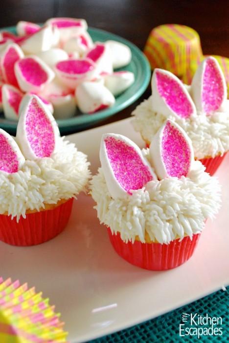 My Kitchen Escapades Easter bunny cupcakes