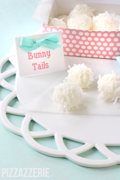 Pizzazzerie Easter bunny tail treats