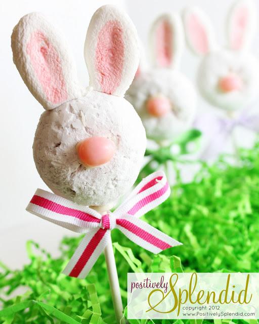 Positively Splendid Easter donut bunny pops