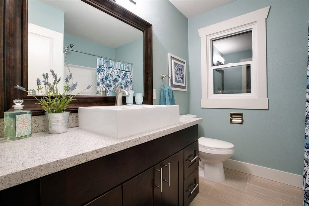 Spane Construction LLC Aquamarine Pantone Painted Bathroom