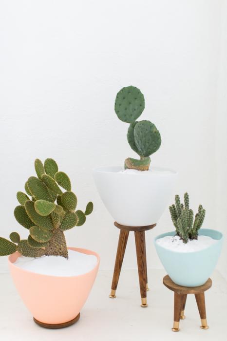 Sugar and Cloth DIY succulent pot planters pastels