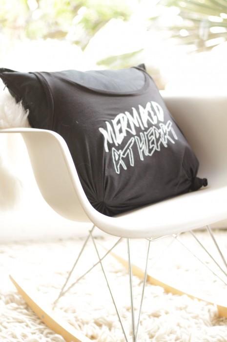 Swell Blog DIY no sew tank pillow