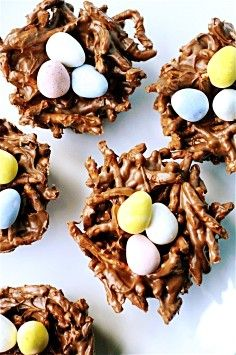 The Curvy Carrot Easter bird's nests
