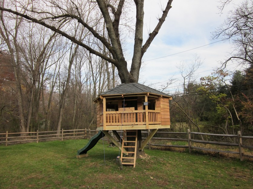 19 amazing treehouses that aren 39 t just for kids porch advice for Best backyard tree houses