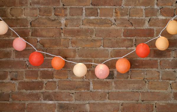 Veronica Sharon via Oh Happy Day paper mache DIY string lights garland