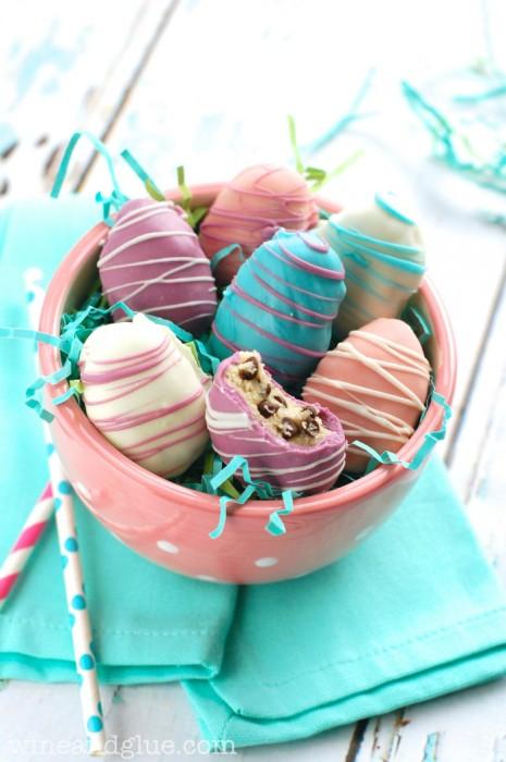 Wine & Glue Easter egg cookie dough truffles