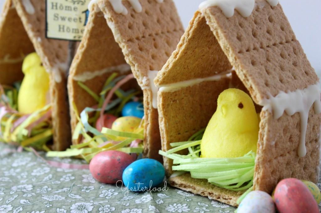 Yesterfood Easter Peeps Houses