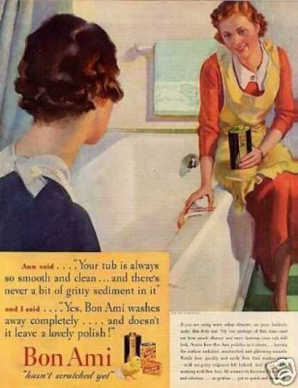 bon ami ad 1935 bathroom