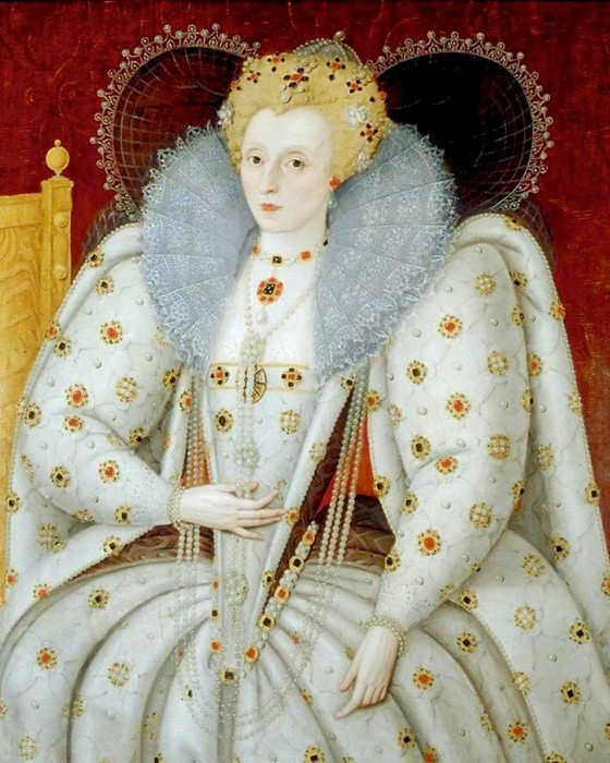 queen elizabeth I tudor white clothing