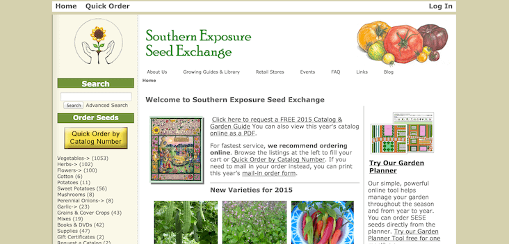 Southern Exposure Seed Exchange via Porch