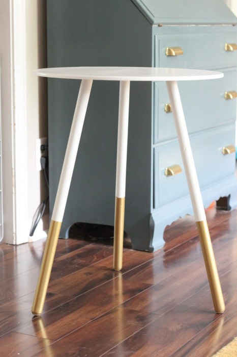 Chasing Shiny Objects DIY West Elm gold dipped side table