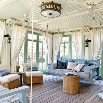Coastal Living cozy napping porch