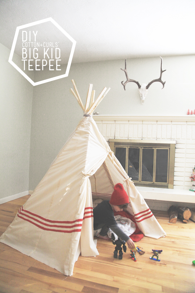 Cotton + Curls - Porch - teepee & 15 DIY Teepees and Play Tents Your Kids Will Spend All Summer In ...