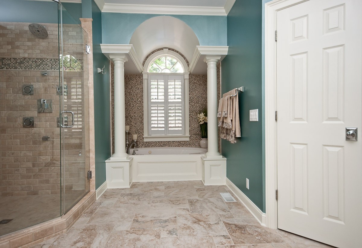 Master Bathroom Remodels Before And After before and after: a spa-like master bathroom remodel - porch advice