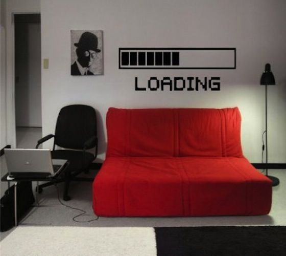 Gadget Flow loading mark wall decals