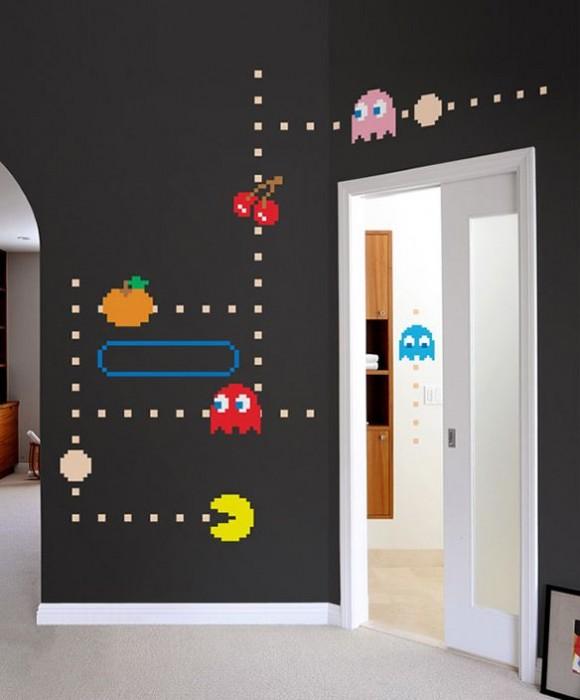 Geek Alerts pac-man wall decals