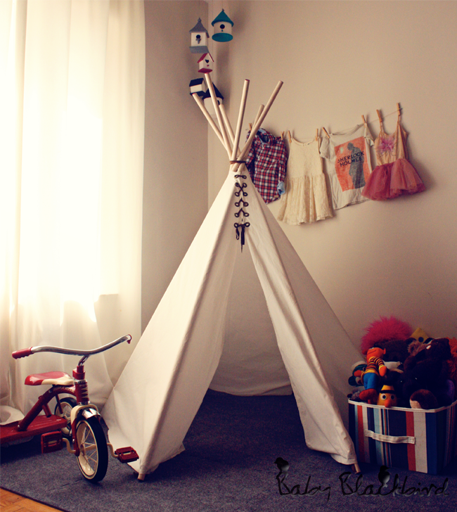 Heart and Habit - Porch - teepee & 15 DIY Teepees and Play Tents Your Kids Will Spend All Summer In ...