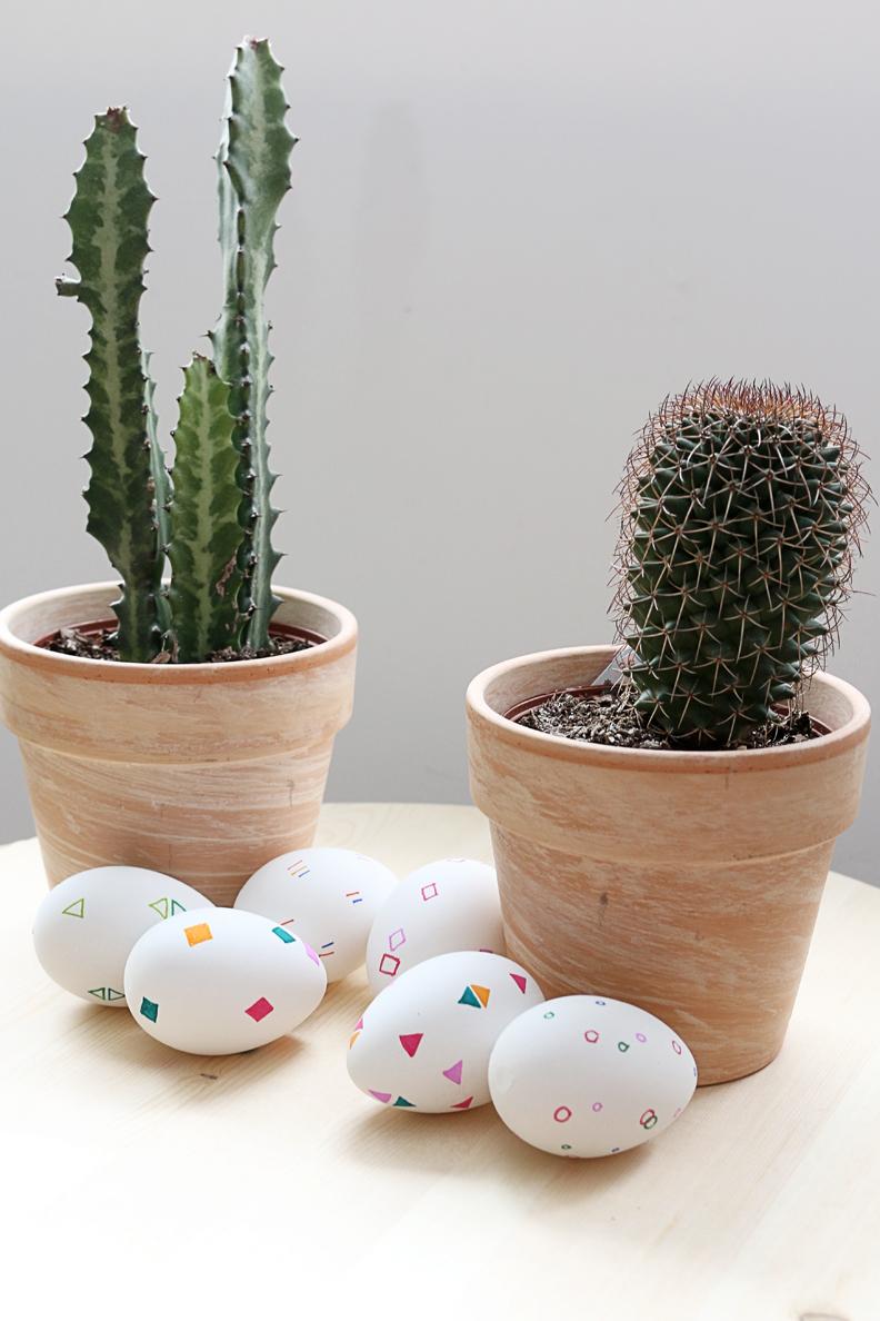 Hello Lidy - geometric easter eggs