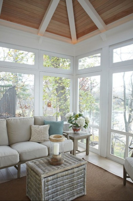 House of Turquoise soft blue sunroom