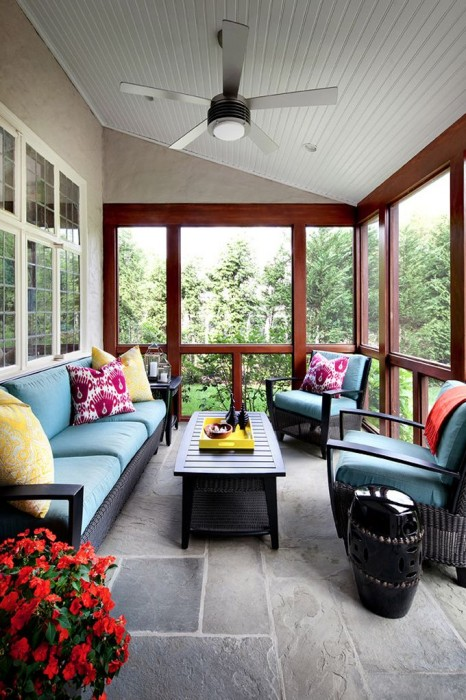 House of Turquoise screened in porch