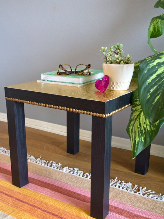 11 stylish ways to hack the ikea lack table porch advice for Lack sofa table hack