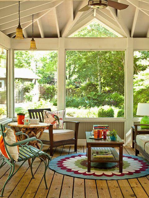 Modern Furniture simple mission-style sunroom