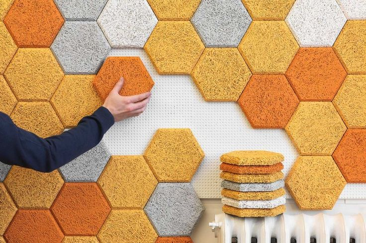 Offbeat Home and Life game room soundproof hexagon wall