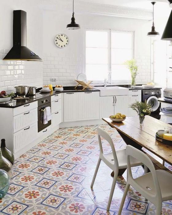 retro kitchen floor tile new house designs