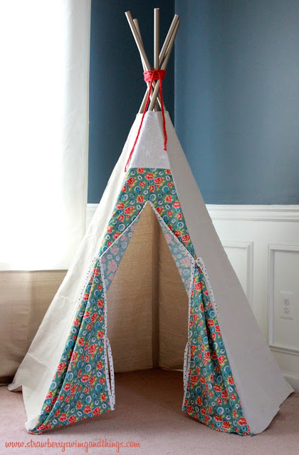 Strawberry Swing and Other Things - Porch - teepee & 15 DIY Teepees and Play Tents Your Kids Will Spend All Summer In ...