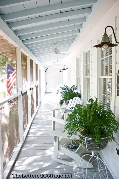 The Lettered Cottage porch