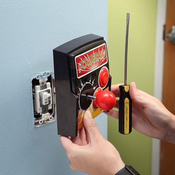 Think Geek Power-Up Arcade Light Switch Plate