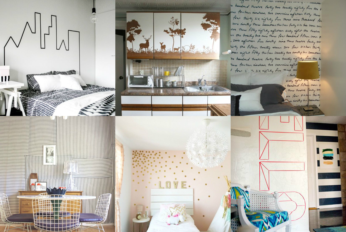 Our Favorite Pins Of The Week Temporary Wall Coverings For When You Can T Paint