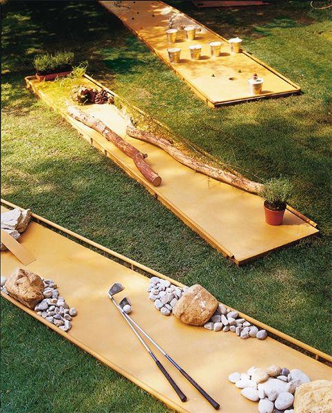 Babble backyard DIY mini golf course
