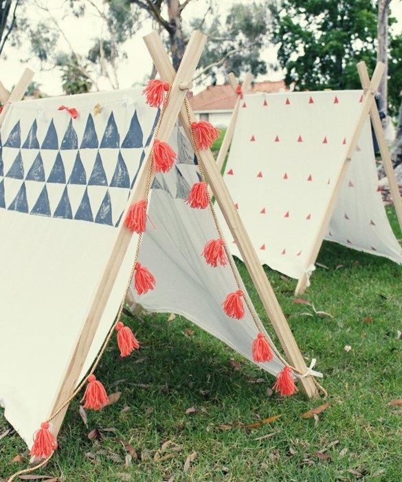 Buzzfeed DIY a-frame tent