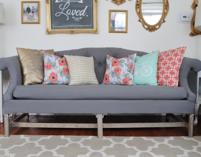 Classy Clutter - Porch- diy reupholstery