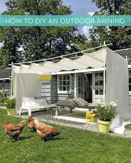 Curbly DIY outdoor awning