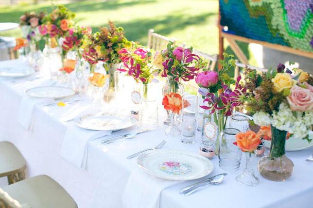 Green Wedding Shoes backyard table