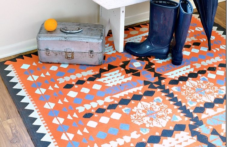 orange pattern rug the 12 best diy rug tutorials of all time porch advice