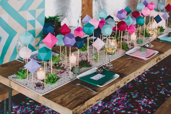 Ruffled Blog geometric backyard table