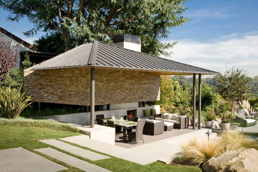An outdoor pavilion by Stout Design-Build Inc.