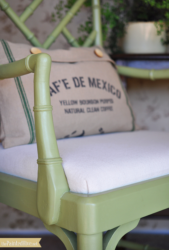 The Painted Hive -Porch - DIY upholstery