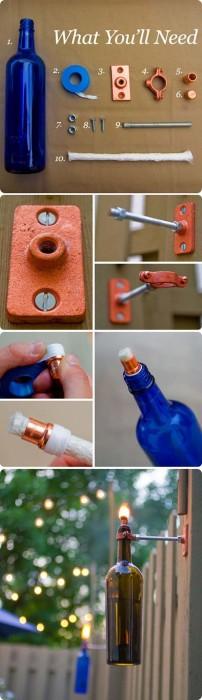 Viralnova DIY wine bottle tiki torches