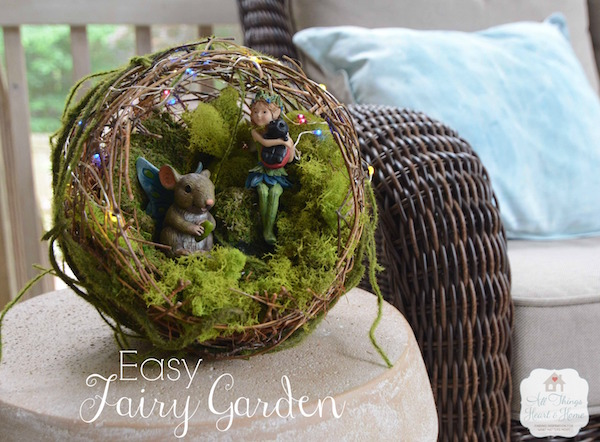 All things heart and homeFairy Garden w String Lights