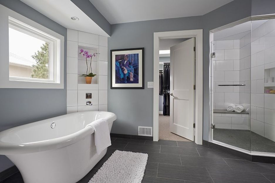 Master Bathroom Remodels Before And After before and after: a modern bohemian master bath remodel - porch advice