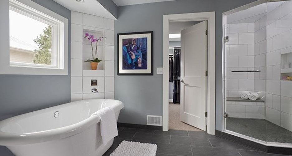 Before and after a modern bohemian master bath remodel for Bathroom remodel under 500
