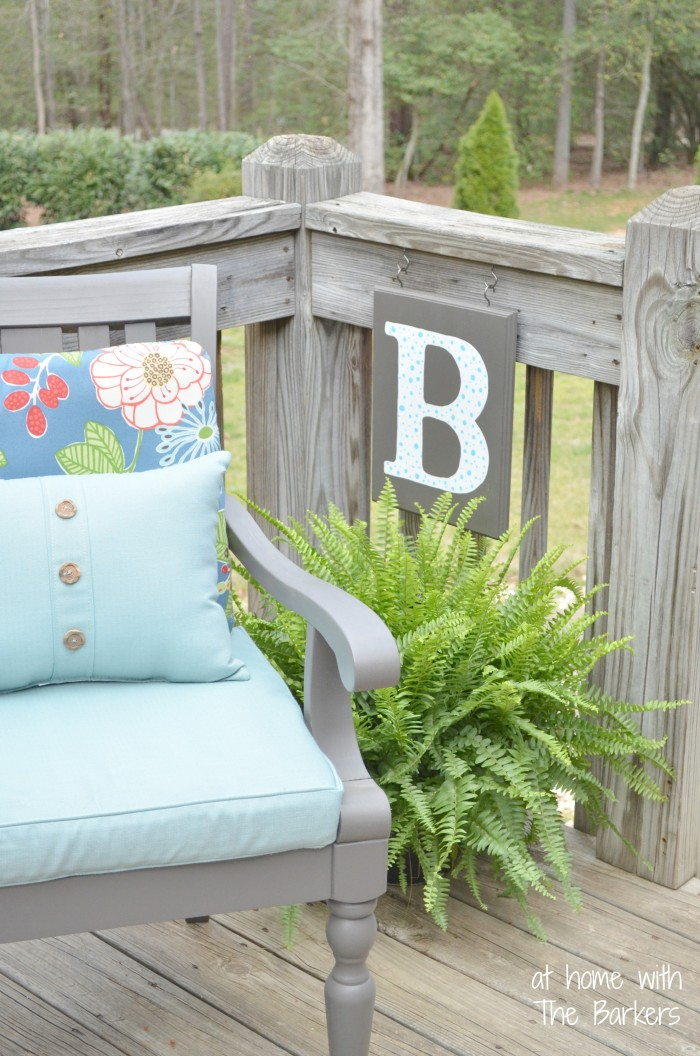 At Home With The Barkers DIY monogram flag