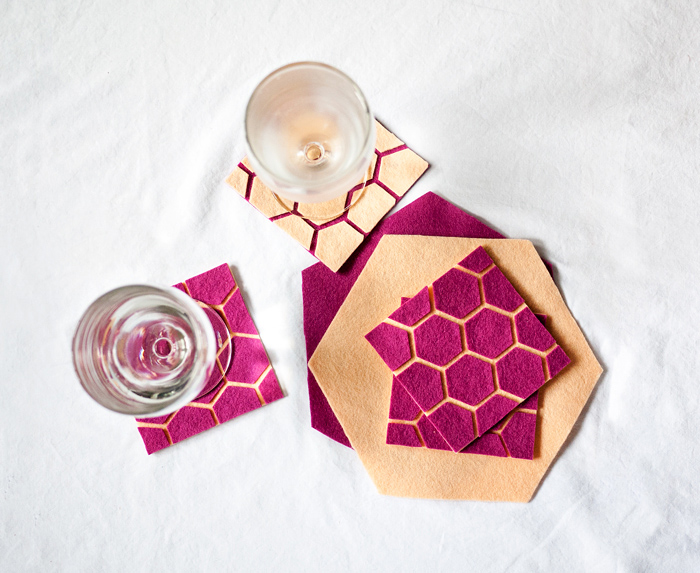 Ciera Design DIY geometric coasters