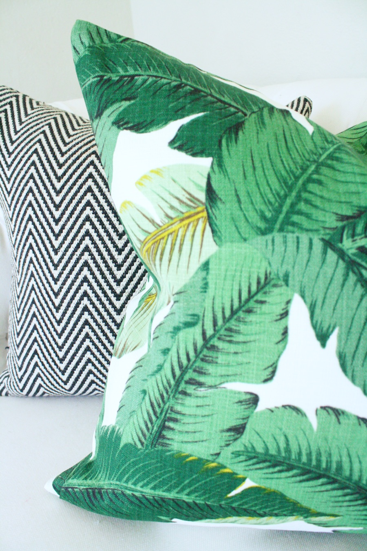 Crane Concept DIY palm pillow cover