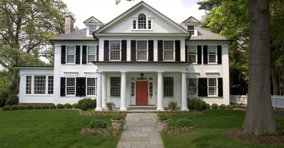 What 39 s that house a guide to federal style homes porch for Federal style homes